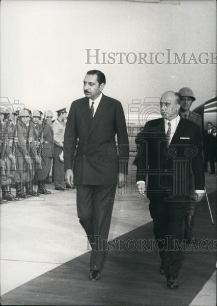 1970 Press Photo Afghanistan Premier Noor Ahmed Etamadi - Historic Images