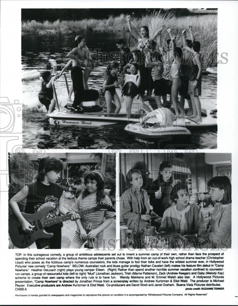 1995 Press Photo Christopher Lloyd, Nathan Cavaleri in Camp Nowhere - cvp28003 - Historic Images