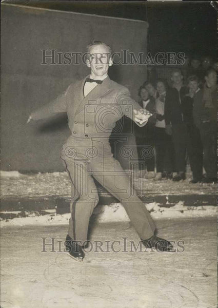 1955 Press Photo Figure Skater Dave Jenkins. Vienna. - Historic Images