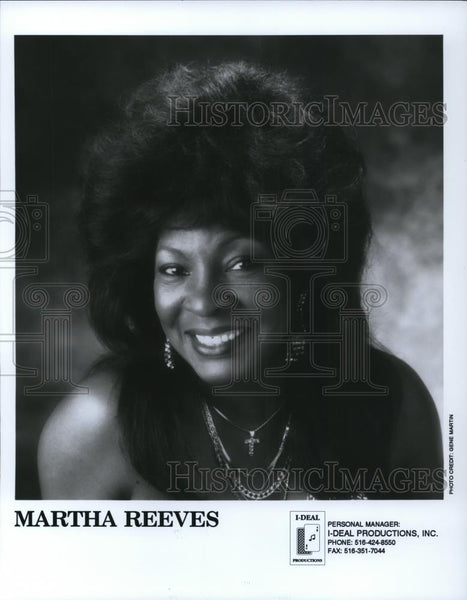1992 Press Photo Martha Reeves - cvp28298 - Historic Images