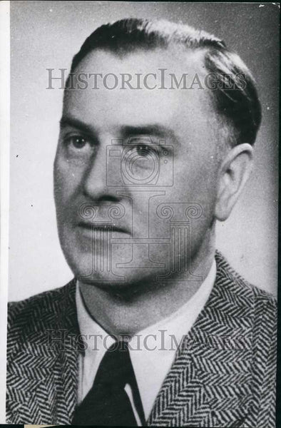 Press Photo Concentration Camp Doctor Hans Eisele. - Historic Images