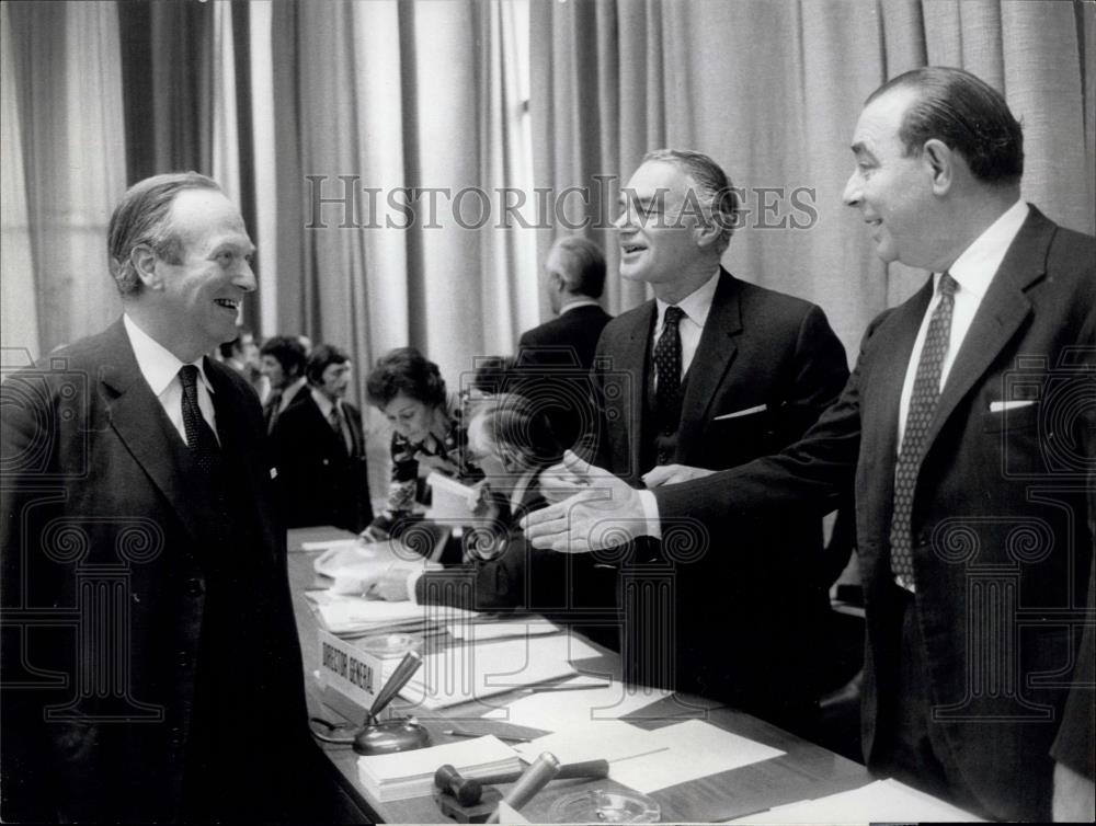 1972 Press Photo General Agreement On Tariffs And Trade Meeting