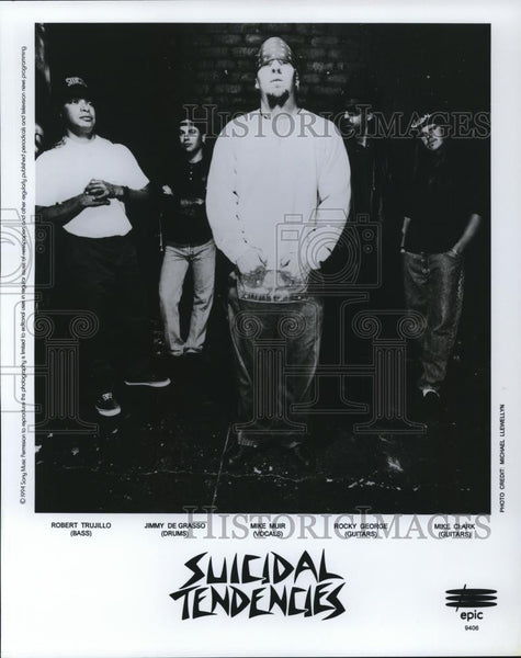 1994 Press Photo Robert Trujillo, Jimmy De Grasso of Suicidal Tendencies - Historic Images