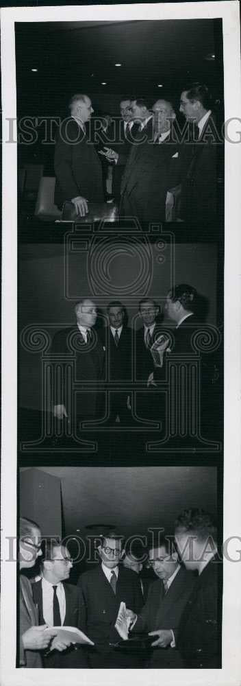 1957 Press Photo Upin French Foreign secretary in the UN - Historic Images