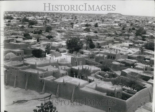 Press Photo Kano's Wattle and Daub Dwellings in Nigeria - Historic Images
