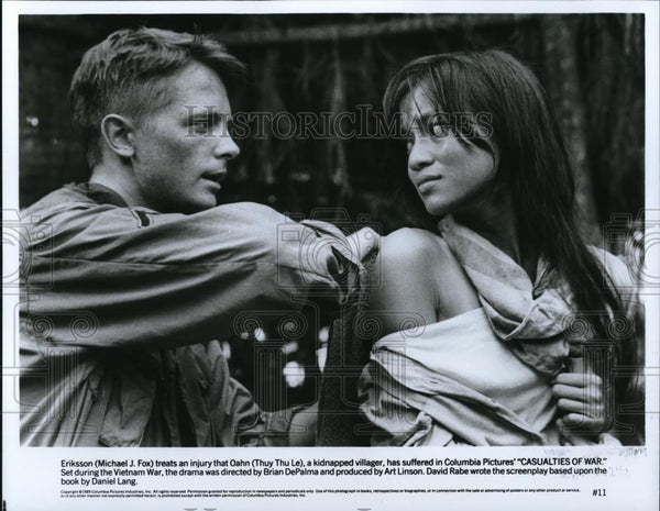 1990 Press Photo Michael J Fox & Thuy Thy Le in Casualties of War - cvp28202 - Historic Images