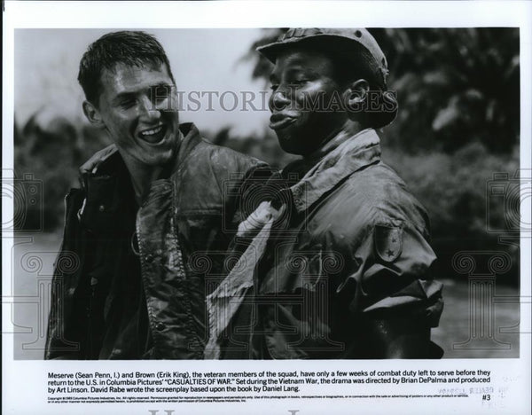 1990 Press Photo Sean Penn & Erik King in Casualties of War - cvp28200 - Historic Images