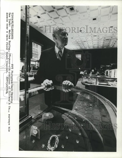 1976 Press Photo Walter Hoving, Chairman of Tiffany & Co. - cvp26328 - Historic Images