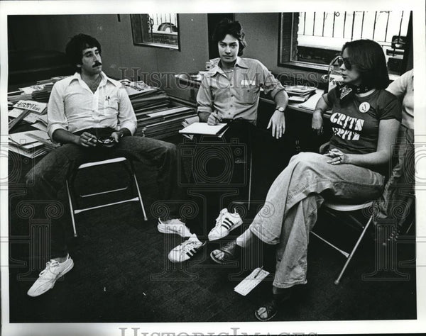 1976 Press Photo Portland, Oregon Bob Saines, Seth Jaconson, Debra Von Hoffman - Historic Images