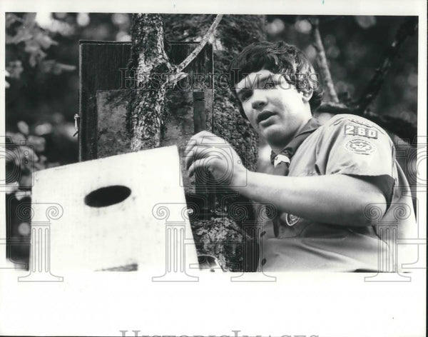 1979 Press Photo Timothy D. Buehler Eagle Scout McMinnville High School - Historic Images