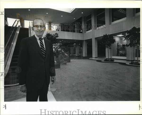1981 Press Photo Robert G. Cameron, Executive Vice President of Lloyd Corp. - Historic Images