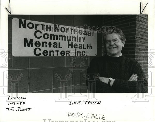 1987 Press Photo Liam Callen, a Seattle psychologist for NNE Comm Mental Center - Historic Images