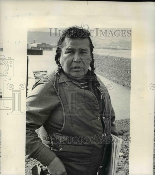 1978 Press Photo Raymond Isadore, Native American fisherman - ora47140 - Historic Images
