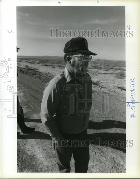 1986 Press Photo Morris LeFever Refuge Manager For Nevada Wetlands - ora49236 - Historic Images