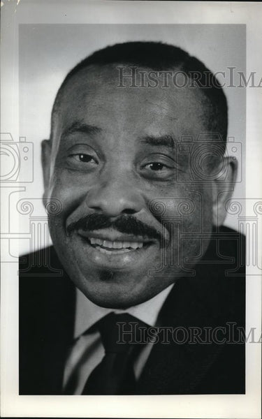 1969 Press Photo Rev John Jackson, pastor of Mount Olivet Baptist Church - Historic Images