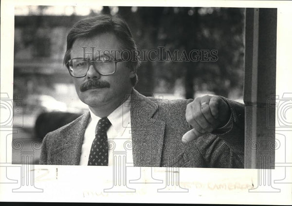 1986 Press Photo Charles D Cameron promoted as Washington County administration - Historic Images