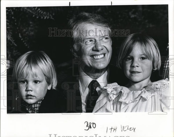 1978 Press Photo President Jimmy Carter and his children - ora00086 - Historic Images