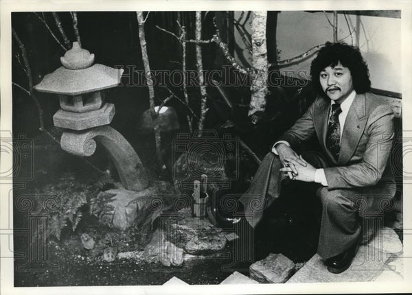 1974 Press Photo Rocky Aoki, Founder of the Benihana Restaurants - ora00002 - Historic Images