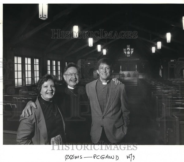 1987 Press Photo Rev Albert Allen & the other priest in their family - ora00156 - Historic Images