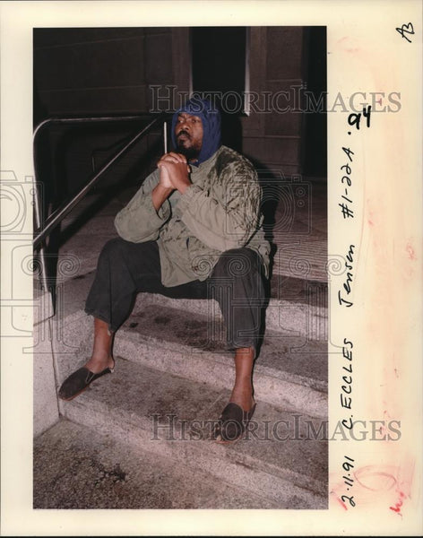 1991 Press Photo Eldridge Broussard at the Justice Center jail - ora00178 - Historic Images