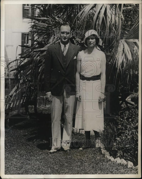 1932 Press Photo Mr and Mrs JK Crimmons of New York in Bermuda - Historic Images