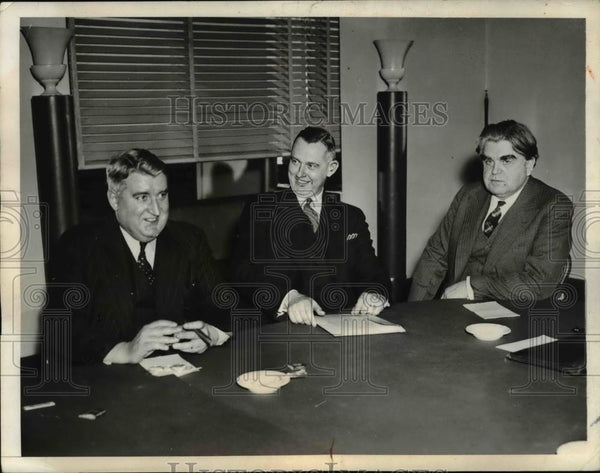 1930 Press Photo NY Dr John Steelman Fed mediator, UMW JL Lewis, CP O'Neill - Historic Images