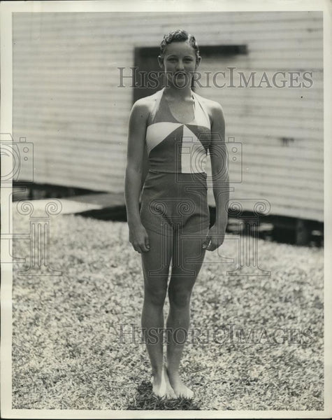1933 Press Photo of Katherine Rawls. - Historic Images