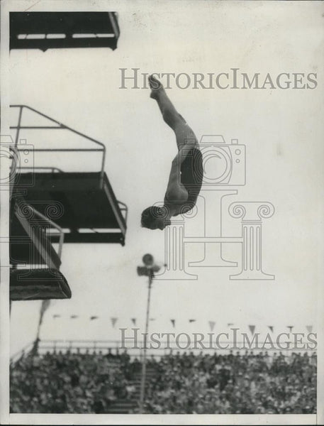 1932 Press Photo of Katherine Rawls diving - Historic Images