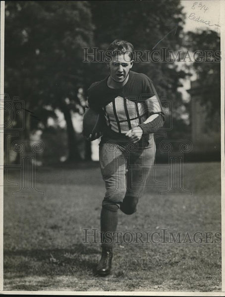 1926 Press Photo Ralph Baker, captain of Northwestern University football team - Historic Images
