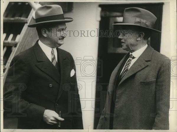 1929 Press Photo of Thomas Needham (L) and Leon Brooks. - Historic Images