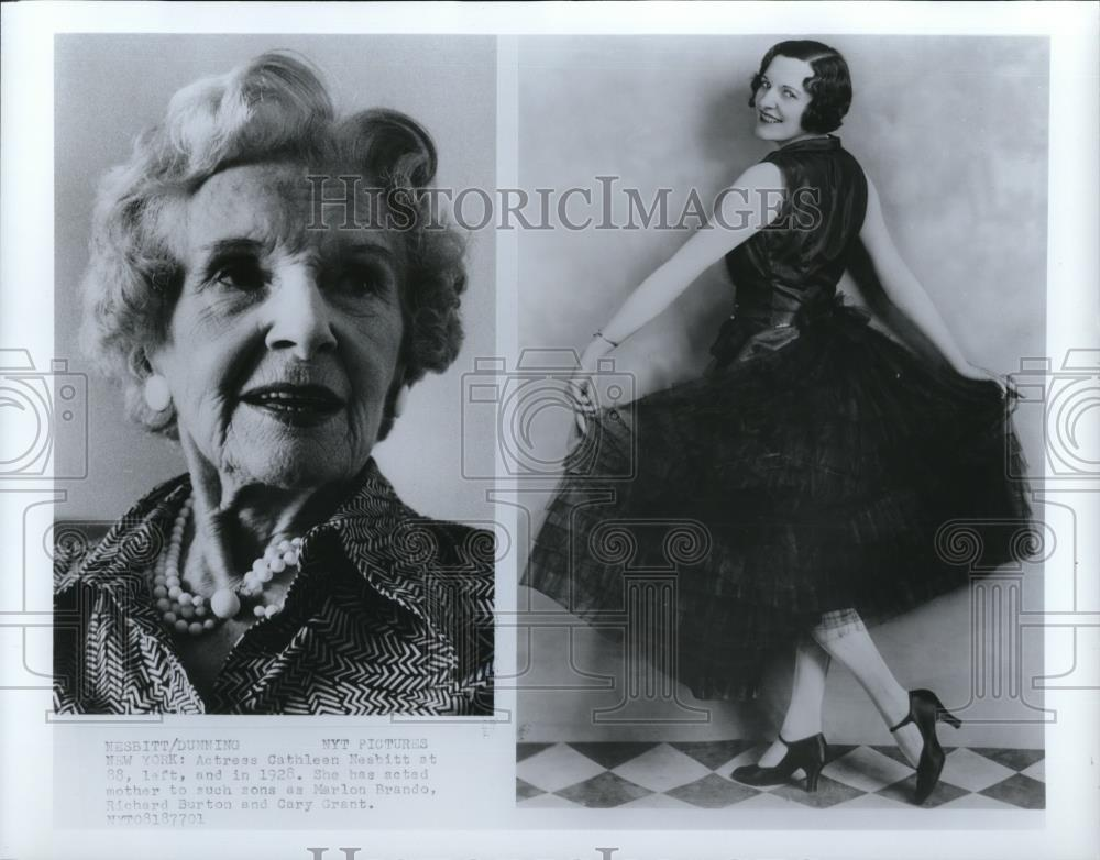 1928 Press Photo Cathleen Nesbitt Age 88 on Left - cvp41551 - Historic Images