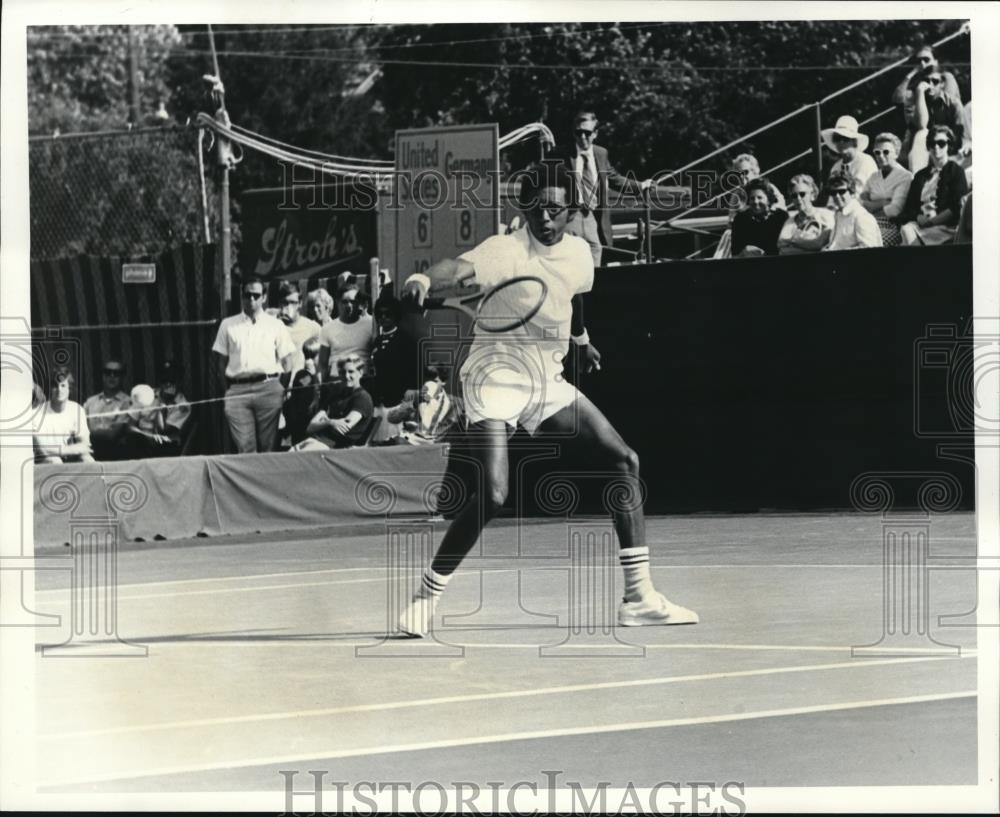1970 Press Photo Arthur Ashe In Davis Cup Final - Historic Images