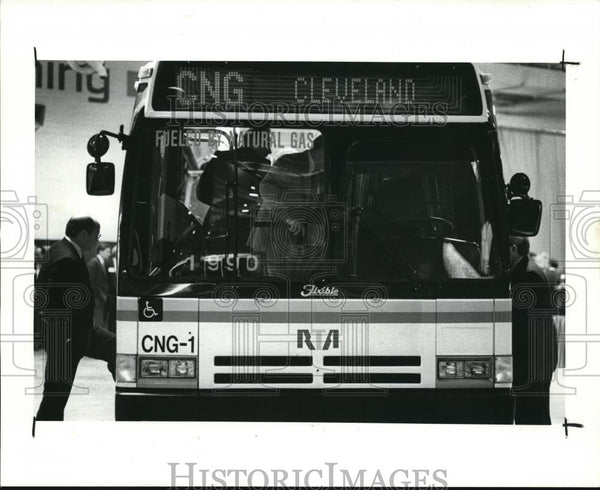 1990 Press Photo First factory designed & built public transportation RTA garage - Historic Images