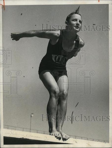 1932 Press Photo of Olympian Katherine Rawls. - Historic Images