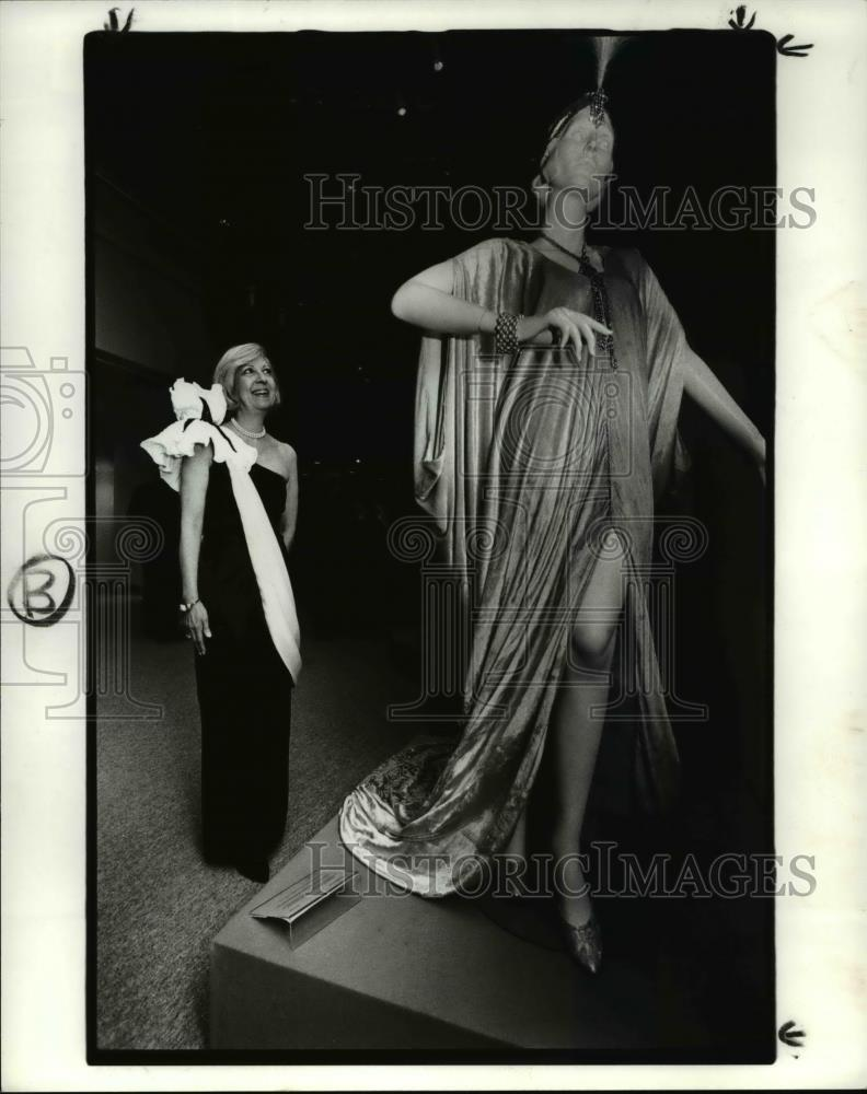 1985 Press Photo Kent State University School Of Fashion Design Merc Historic Images