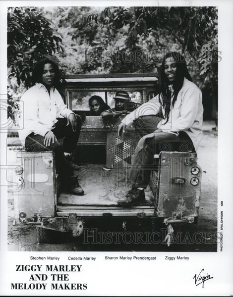 1993 Press Photo Ziggy Marley Stephen Marley Ceceila Marley Sharon Prendergast - Historic Images