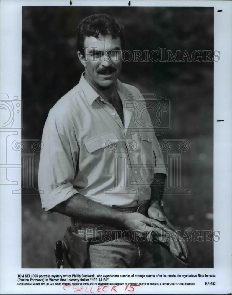 1989 Press Photo Tom Selleck In Her Alibi Historic Images