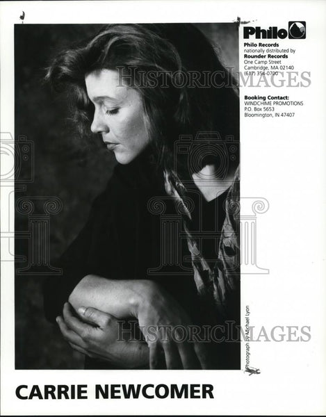 1996 Press Photo Carrie Newcomer Folk Americana Singer Songwriter Musician - Historic Images