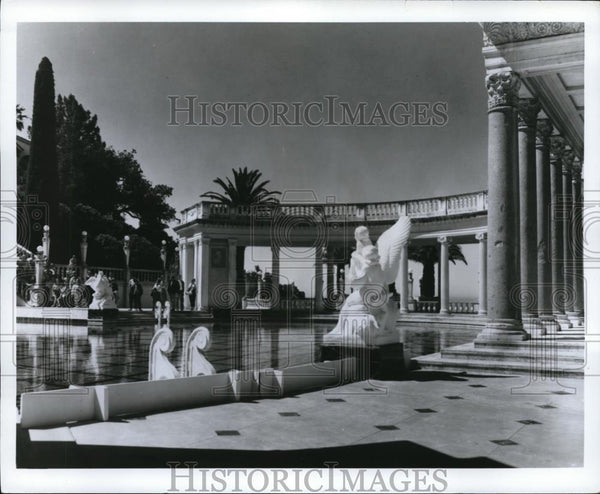 Press Photo The marble pool at the Hearst Castle at San Simeon in California - Historic Images