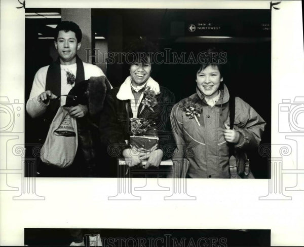 1986 Press Photo Ameriasians arrived from Korea - Historic Images