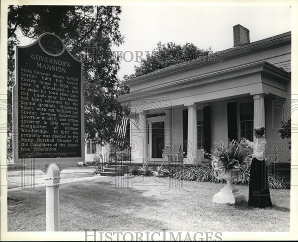 Press Photo Michigan's First Governor's mansion built by James Wright Gordon - Historic Images