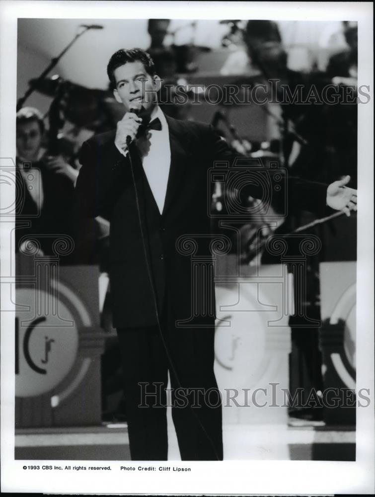 1993 press photo harry connick jr the harry connick jr christmas special historic