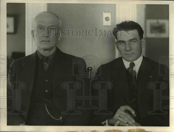 1923 Press Photo Albert & Aubrey F Bean Maine bros of Otis Bean, murder charge - Historic Images
