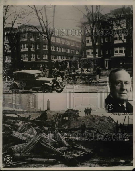 1922 Press Photo W.A. Faunce killed in Toledo Fire - Historic Images
