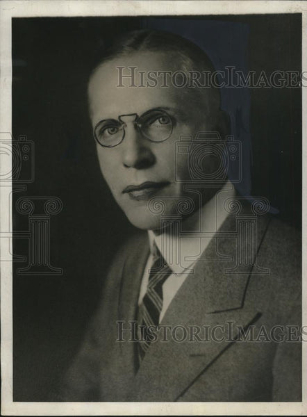 1929 Press Photo Charles Piez,selected as President of Merchant Fleet Corp - Historic Images