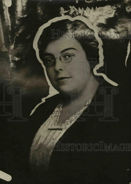 1922 Press Photo Rachel Parmer Executive Secretary Business Woman's Club - Historic Images