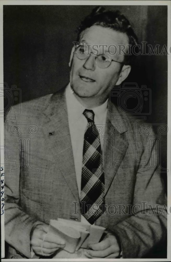 1938 Press Photo Sacramento Calif Dist Atty Otis Babcock at Grand Jury - Historic Images