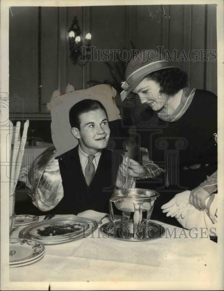 1933 Press Photo Tom Brown & Lois January Film St - Historic Images
