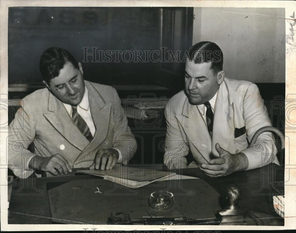 1939 Press Photo Richard W Leche, Rome Viesca before federal jury, Louisiana - Historic Images