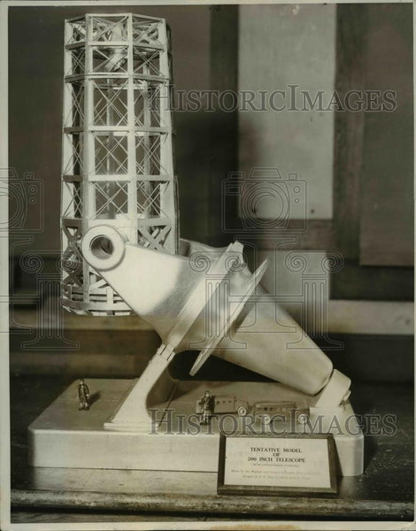 1931 Press Photo The new model of the 200 inch telescope - nee16518 - Historic Images